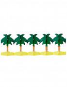 Palmengirlande Sommerparty-Deko gelb-grün 4m