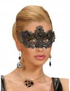 Antike Augenmaske mit Pailetten schwarz-gold