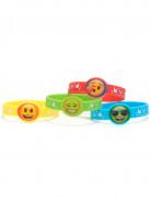 Emoji™ Gummiarmbänder Kindergeschenk 4 Stück bunt