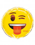 Emoji™-Aluminiumballon Zwinkerndes Gesicht