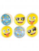 Emoji™ Gummibälle 6 Stück gelb-bunt