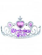 Diadem Krone Birthday Girl für Kinder silber-lila