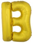Riesen-Luftballon Buchstaben-Ballon B gold 1m