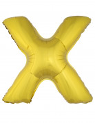 Riesen-Luftballon Buchstaben-Ballon X gold 1m