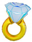 Diamantring Alumium-Ballon Party-Accessoire gold-blau 105cm