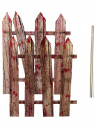 Halloween-Dekoartikel blutigeer Zaun 2 Stück 59 cm