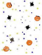 Gruseliges Konfetti Kürbisse und Spinnen Halloween Tischdeko bunt 14g
