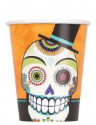 Tag der Toten Becher Halloween Becher Set 8 Stück bunt 270ml