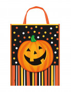 Kürbis Trick or Treat Tasche Halloween orange-bunt 38x30cm
