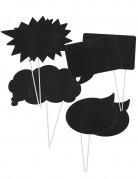 Foto Accessoire Set Sprechblasen 8-teilig schwarz-weiss