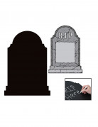 Grabstein zum Beschriften Halloween-Deko schwarz-grau 35x53cm