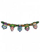 Tag der Toten Girlande Halloween Party-Deko bunt 136x23cm