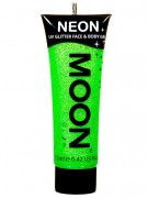 Moon Glow - Neon UV Glitter Gesicht- und Körperfarbe Schminke Makeup Bodypainting Glitzer fluoreszierend grün 12ml