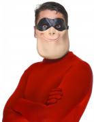Superhelden-Halbmaske beige-schwarz