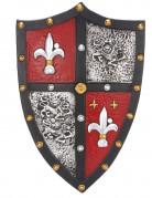 Erwachsenen-Ritterschild Ritter-Zubehör schwarz-rot
