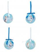 Christbaumkugeln Weihnachten Lizenzware Die Eiskönigin Olaf 4 Stück blau-weiss