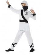 Ninja Kinder-Kostüm weiss-schwarz