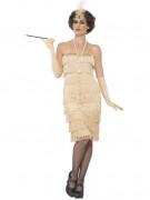 Charleston-Kostüm 20er Jahre für Damen - beige