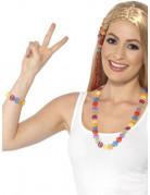 Hippie Set für Erwachsene 2-teilig bunt