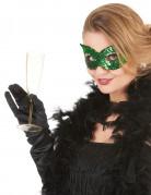 Venezianische Pailletten-Maske grün