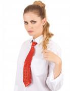 Pailletten Krawatte Kostümzubehör rot