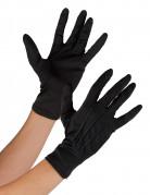 Kurze Handschuhe Kostüm-Accessoire schwarz