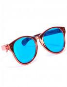 Riesige Disco Spaßbrille blau-rot