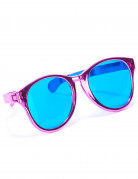 Lustige Riesen-Brille Partybrille pink-blau
