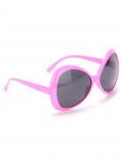 Riesige Disco-Brille für Erwachsene rosa