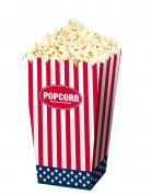 USA Popcorn-Tüten Mottoparty-Accessoire 4 Stück rot-weiss-blau 16 x 9,5cm