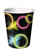 Pappbecher Glow Party 8 Stück bunt 266 ml