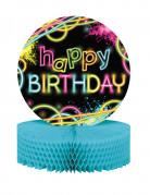 Happy Birthday Waben Tischdeko bunt