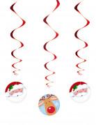 Spiralen Hängedeko Weihnachten 3 Stück bunt
