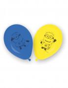 Ballons Minions™ 8 Stück blau-gelb
