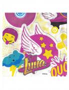 Papierservietten Soy Luna™ Party-Deko 20 Stück weiss-pink-gelb 33x33cm