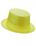 Glitzer-Zylinder Party-Hut gelb