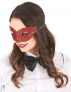 Glitzer-Damenmaske Augenmaske rot