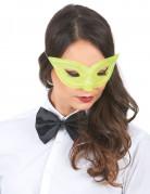 Venezianische Augenmaske Glitzer gelb