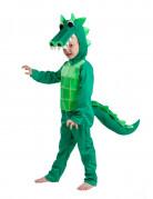 Krokodil Kinderkostüm Overall grün