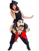 Lustiges Sklave Carry-Me Kostüm schwarz-bunt