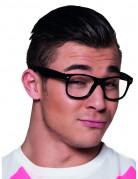 Nerd Brillen Spaßbrillen Set 4 Stück schwarz