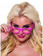 Nerd Brillen Spaßbrillen Set 4 Stück neonpink