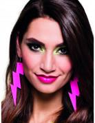 Blitz Ohrringe für Erwachsene pink