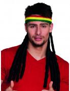 Stirnband mit Dreadlocks Rasta für Erwachsene bunt