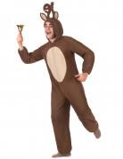 Rentier-Kostüm Jumpsuit Weihnachten braun-beige