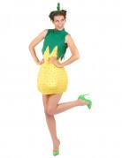 Süsse Ananas Damenkostüm Frucht gelb-grün