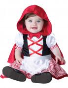 Süßes Rotkäppchen Märchen Kostüm für Babys rot-schwarz-weiss