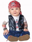 Rocker Biker Kostüm für Babys bunt