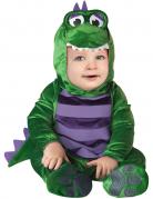 Süßes Dino Kostüm Dinosaurier für Babys grün-lila