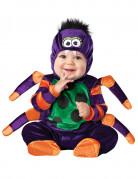 Niedliches Spinnen-Babykostüm lila-grün-orange
